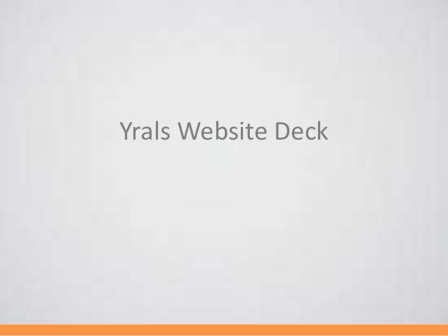 Yrals Website Deck