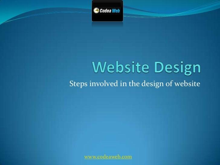 Website Design<br />Steps involved in the design of website<br />