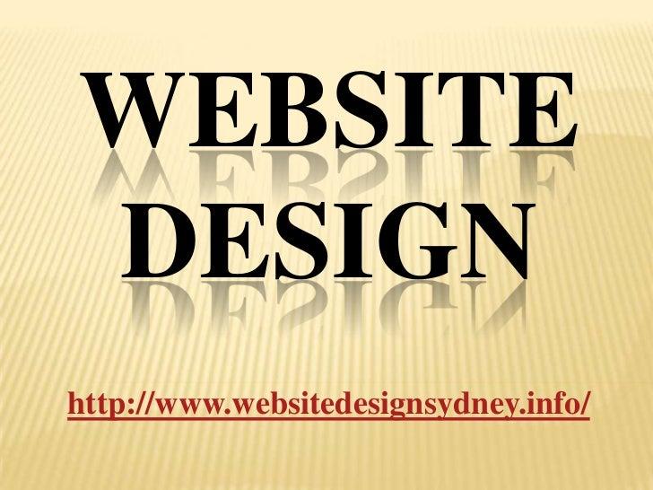 WEBSITEDESIGNhttp://www.websitedesignsydney.info/