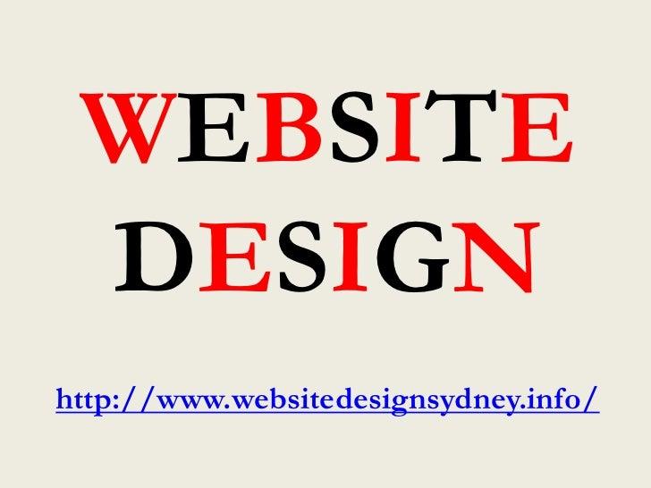 WEBSITE DESIGNhttp://www.websitedesignsydney.info/