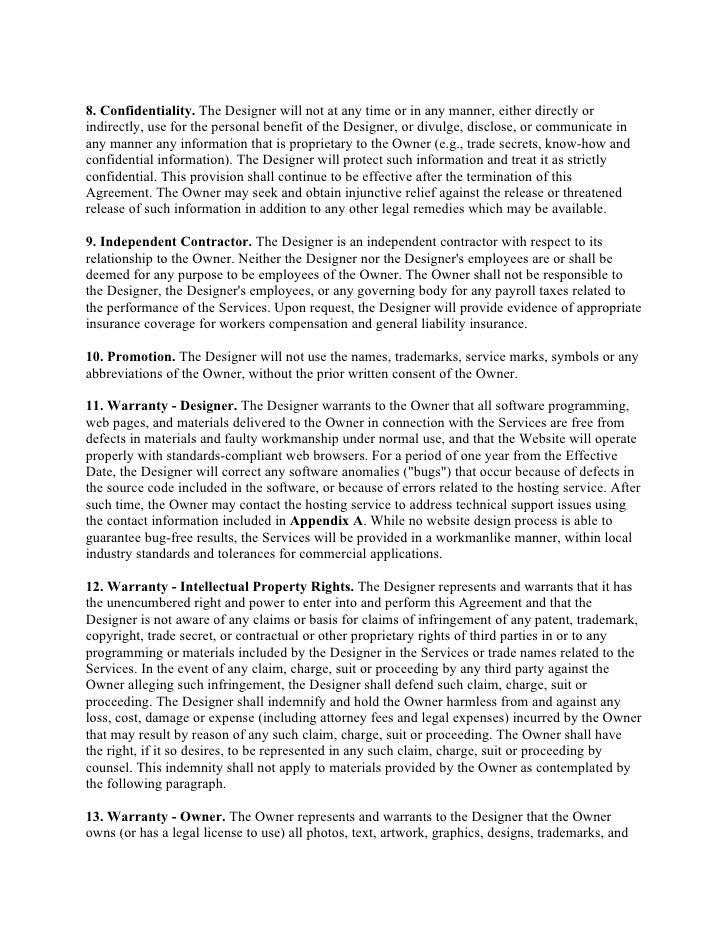 design agreement template