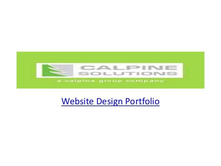 Website design and development services portfoio
