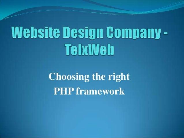 Choosing the right PHP framework