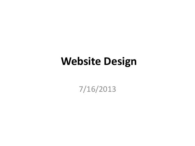 Website design needs slideshare