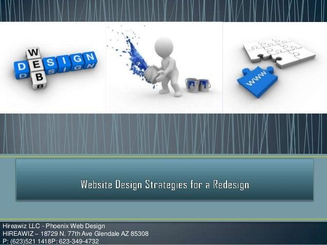 Website design strategies for a redesign