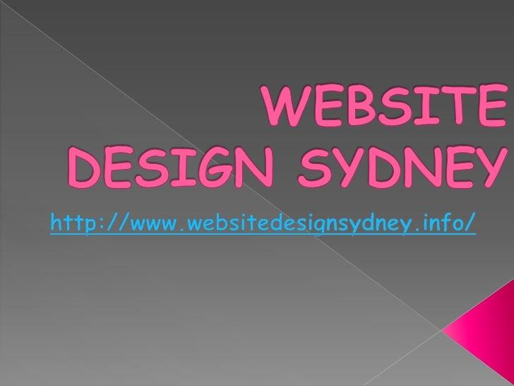 Website Design Sydney: Why your  site or blog mustpossess a decent web      site design