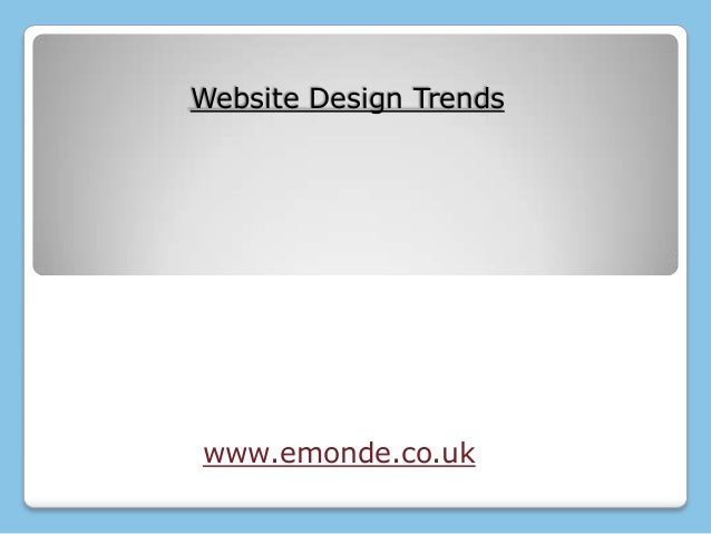 Website design treands