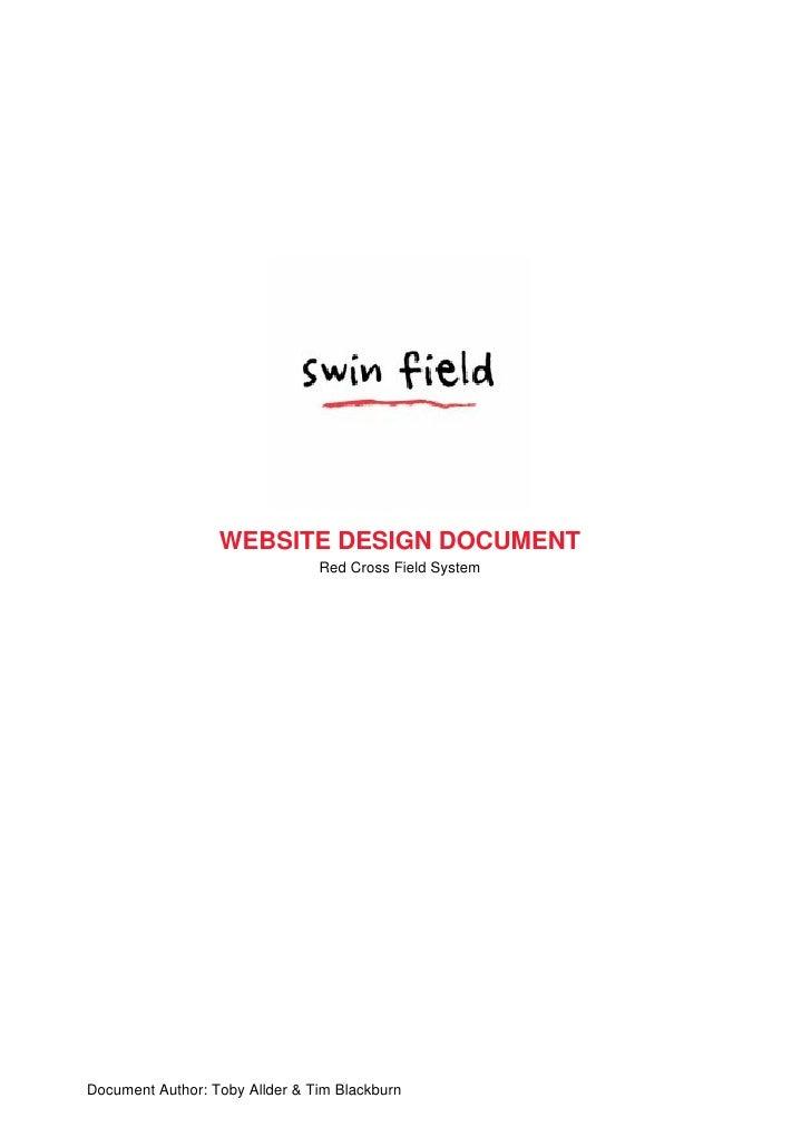 WEBSITE DESIGN DOCUMENT                                Red Cross Field SystemDocument Author: Toby Allder & Tim Blackburn