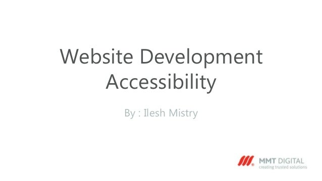 Website development accessibility