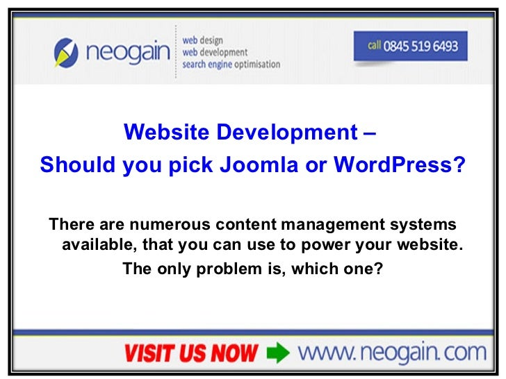 Website Development - Should you pick Joomla or WordPress?