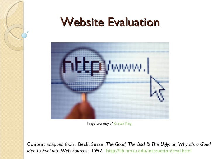 Website Evaluation 2009