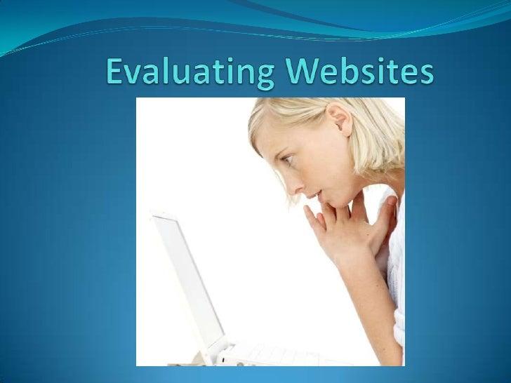 Evaluating Websites<br />