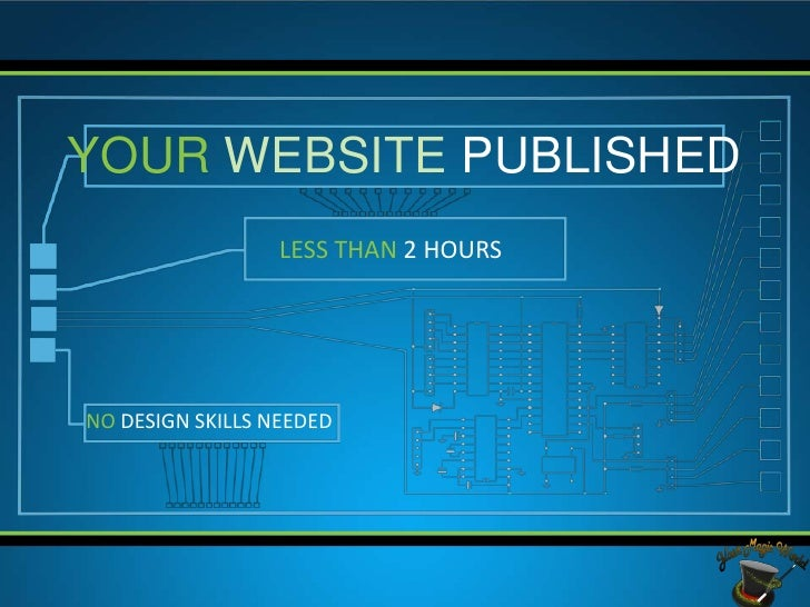 YOUR WEBSITE PUBLISHED                  LESS THAN 2 HOURSNO DESIGN SKILLS NEEDED