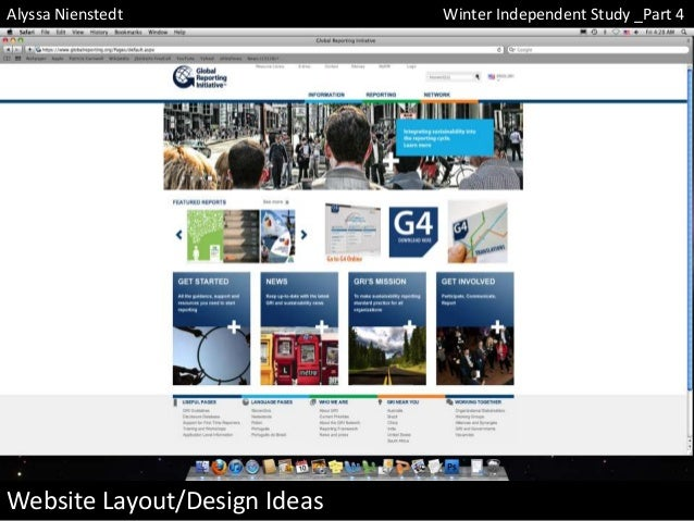 Alyssa Nienstedt  Website Layout/Design Ideas  Winter Independent Study _Part 4