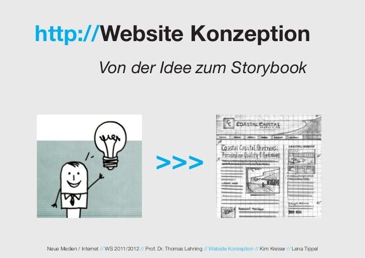 http://Website Konzeption                       Von der Idee zum Storybook                                                ...