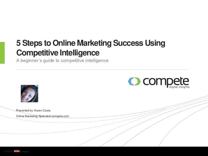 5 Steps to Online Marketing Success Presentation Karen Costa SES 2011