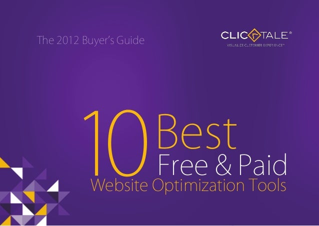 BestFree & PaidWebsite Optimization ToolsThe 2012 Buyer's Guide