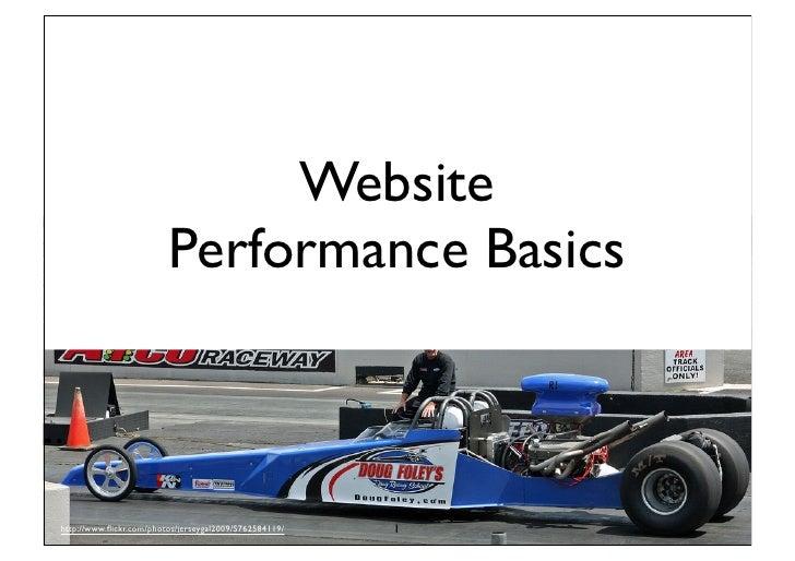 Website Performance Basics