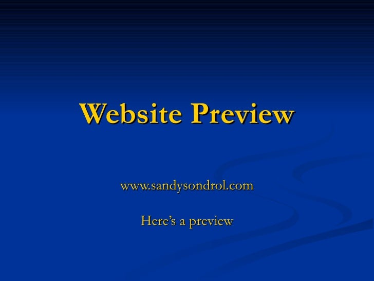 Website Preview www.sandysondrol.com Here's a preview