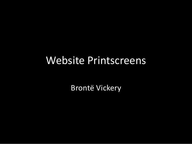 Website PrintscreensBrontë Vickery