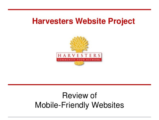 Harvesters Website Project Review of Mobile-Friendly Websites
