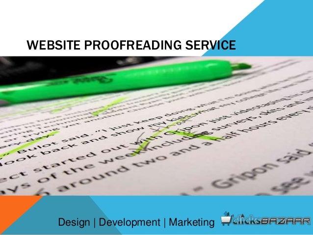 WEBSITE PROOFREADING SERVICE Design | Development | Marketing