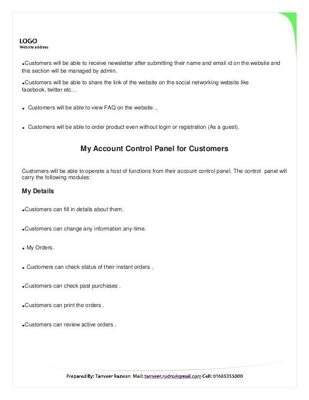 Web Site Proposal Sample For E Commerce Site