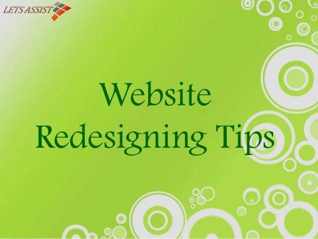 Website Redesigning Tips