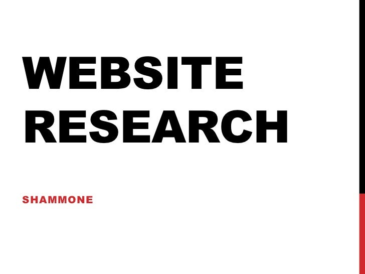 WEBSITERESEARCHSHAMMONE