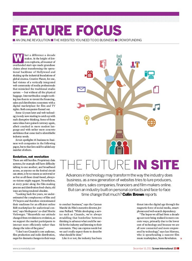 feature focusn An online revolution n the websites you need to do business n crowdfundingW            hat a difference a d...