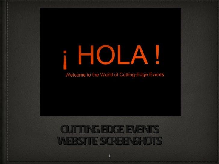 CUTTING EDGE EVENTS WEBSITE SCREENSHOTS
