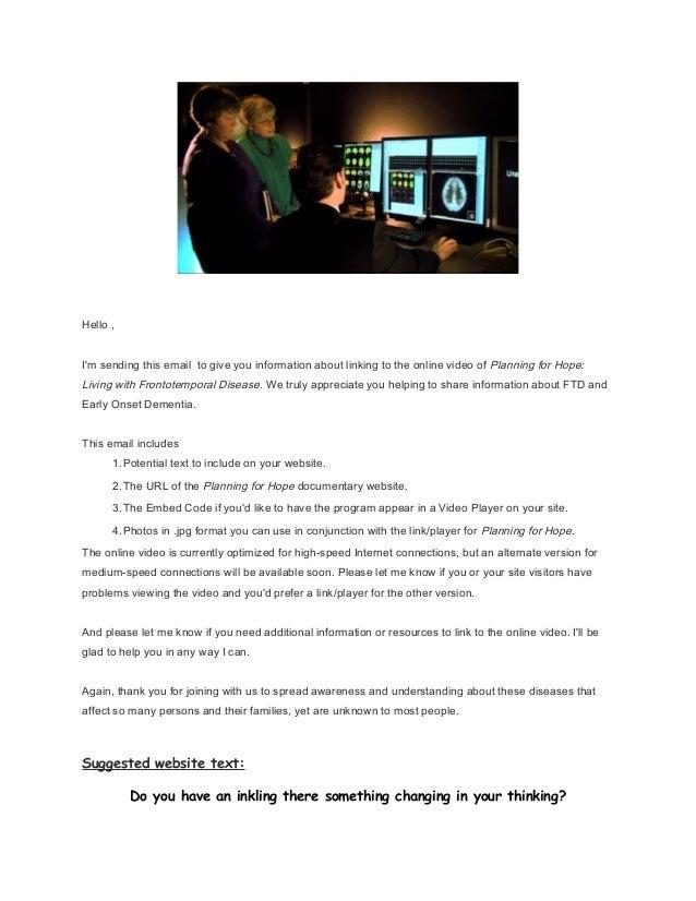 Websites letter for posting on others site