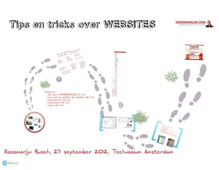 Tips en tricks bij het maken van een website | Inspiratie voor technasium amsterdam