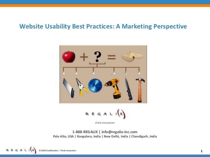 Website usability best practices   a marketing perspective