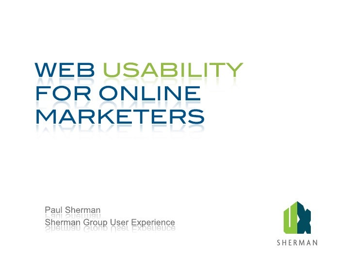 Website Usability Tutorial For Online Marketers