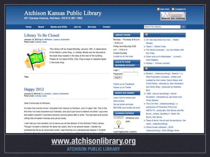 www.atchisonlibrary.org    ATCHISON PUBLIC LIBRARY