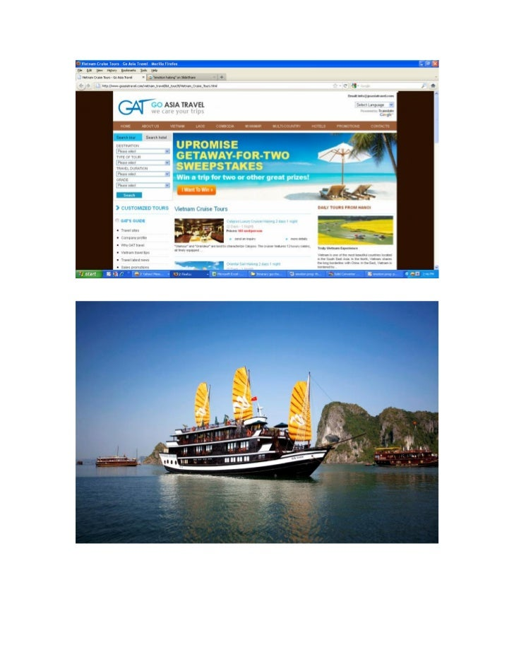 Website www.goasiatravel GAT travel vietnam