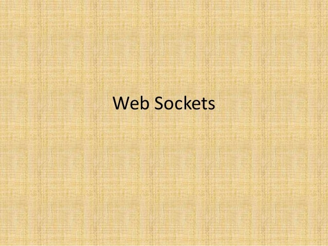 Web sockets Introduction
