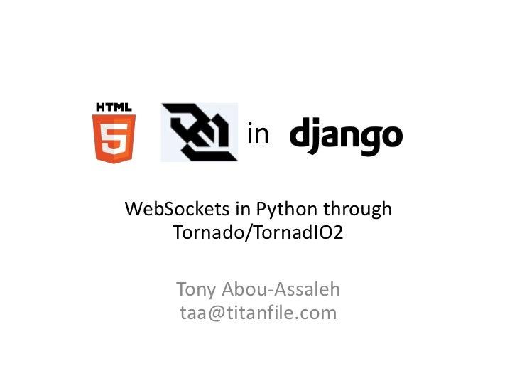 HTML5 WebSockets in Python/Django
