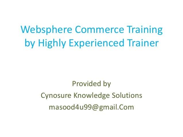 Websphere commerce training