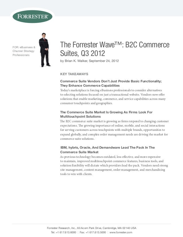 IBM is cited as a leader in The Forrester Wave B2C Commerce Suites, Q3 2012