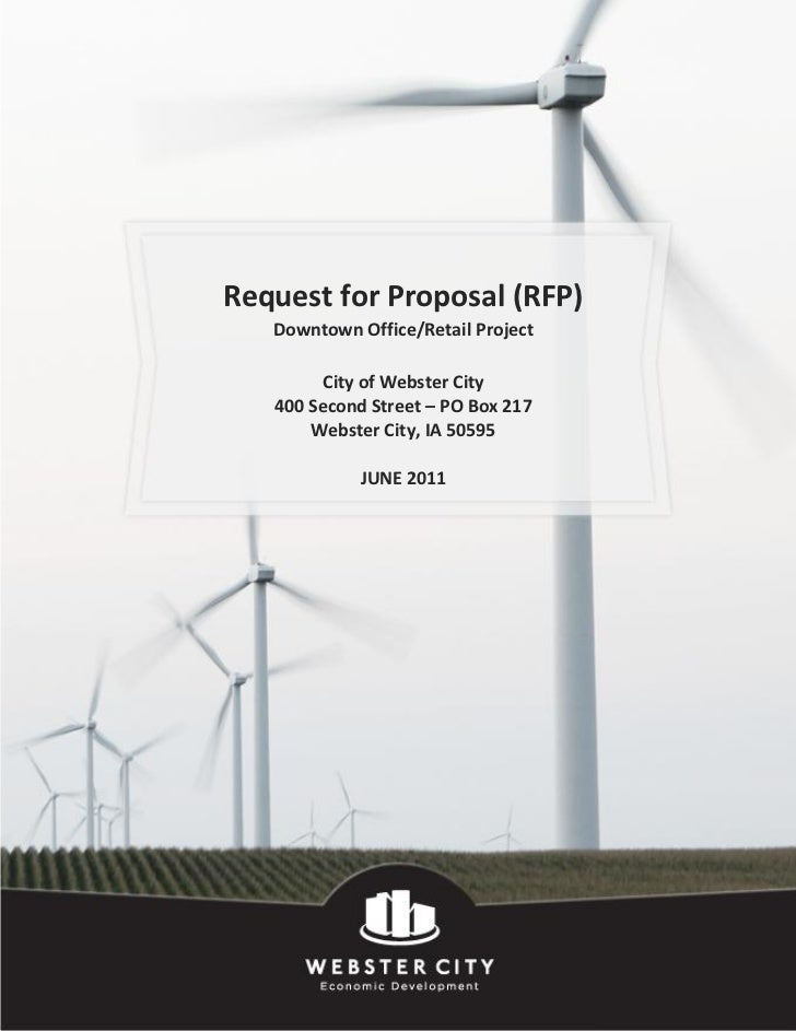 Request for Proposal (RFP)   Downtown Office/Retail Project         City of Webster City   400 Second Street – PO Box 217 ...