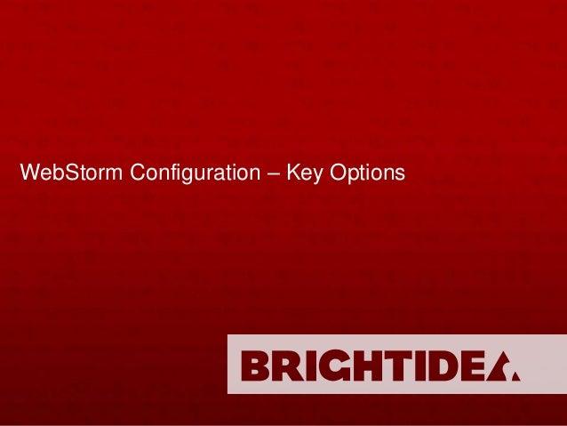 WebStorm configuration v2
