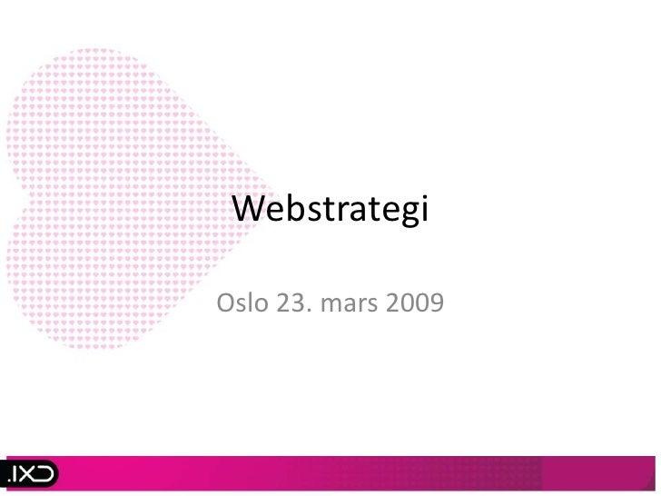 Webstrategi - internettmarkedsføring