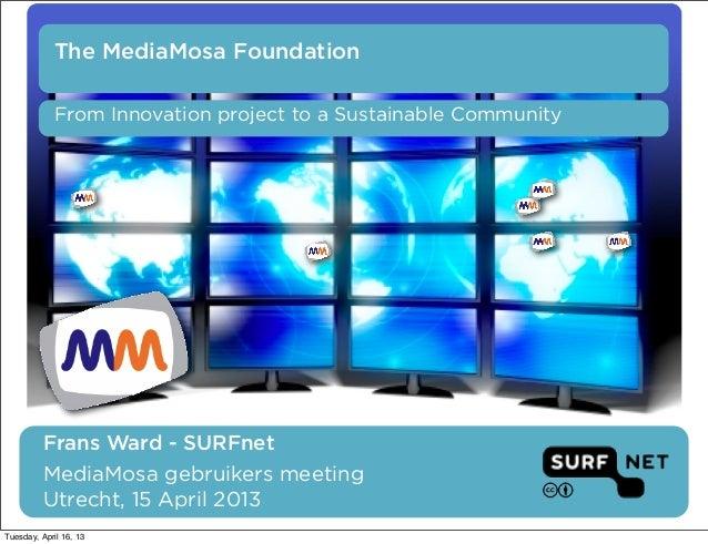 MediaMosa Foundation - Webstroom  15 april 2013