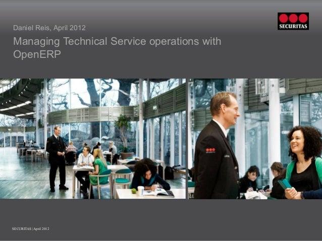 Service Management at Securitas using OpeneERP
