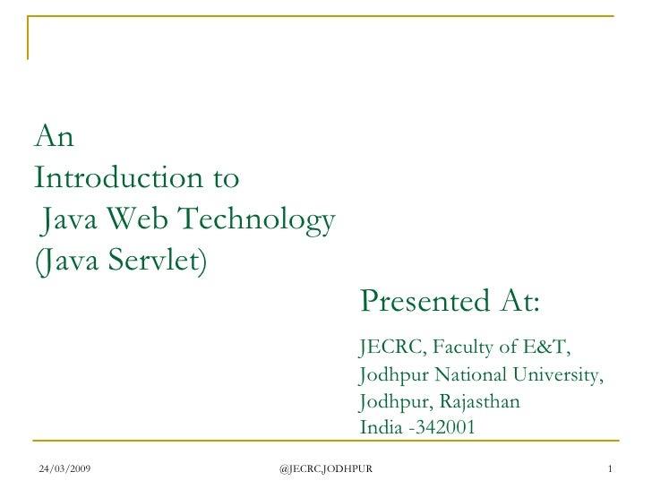 Web Tech   Java Servlet Update1