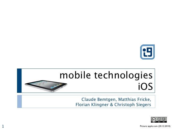 mobile technologies iOS