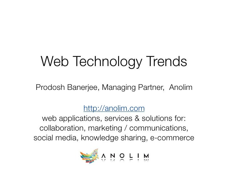 Web Technology Trends (early 2009)