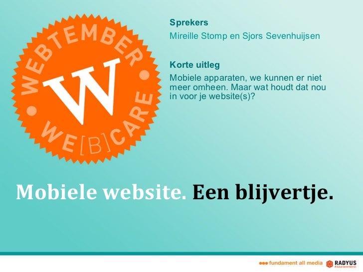 Webtember Mobiele Websites